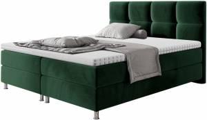Επενδυμένο κρεβάτι Dave-Prasino-160 x 200