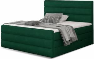 Επενδυμένο κρεβάτι Caribou-Prasino-140 x 200
