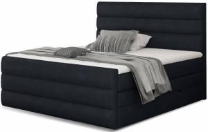 Επενδυμένο κρεβάτι Caribou-Anthraki-140 x 200