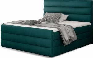 Επενδυμένο κρεβάτι Caribou-Petrol-140 x 200