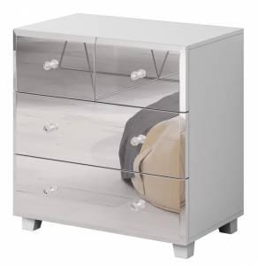 Συρταριέρα Glass mini-Λευκό