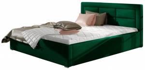 Επενδυμένο κρεβάτι Ross-140 x 200-Prasino-Με μηχανισμό ανύψωσης
