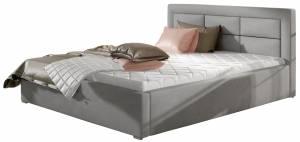 Επενδυμένο κρεβάτι Ross-140 x 200-Gkri-Χωρίς μηχανισμό ανύψωσης