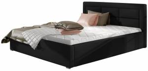 Επενδυμένο κρεβάτι Ross-160 x 200-Mauro-Χωρίς μηχανισμό ανύψωσης