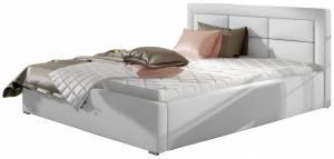 Επενδυμένο κρεβάτι Ross-160 x 200-Leuko-Χωρίς μηχανισμό ανύψωσης