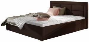 Επενδυμένο κρεβάτι Ross-160 x 200-Kafe-Χωρίς μηχανισμό ανύψωσης