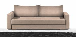 Καναπές Kleio Διθέσιος-130φ 80β εκ.-Μπεζ