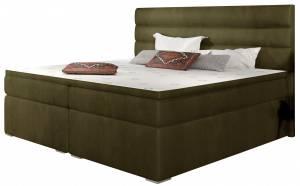 Επενδυμένο κρεβάτι Victoria με στρώμα και ανώστρωμα-140 x 200-Ladi