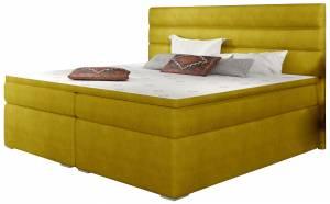 Επενδυμένο κρεβάτι Victoria με στρώμα και ανώστρωμα-140 x 200-Kitrino