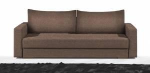 Καναπές Kleio Τριθέσιος-195φ 80β εκ.-Σοκολατί