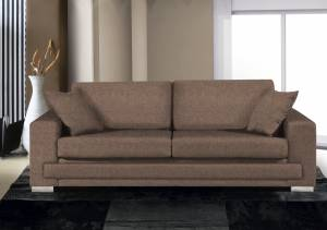 Καναπές Matrix Διθέσιος-165φ 90β εκ-Σοκολατί