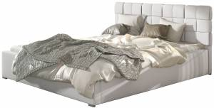 Επενδυμένο κρεβάτι Grady-140 x 200-Χωρίς μηχανισμό ανύψωσης-Leuko