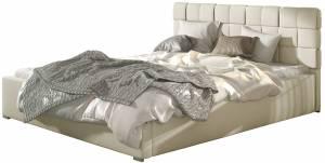 Επενδυμένο κρεβάτι Grady-140 x 200-Χωρίς μηχανισμό ανύψωσης-Mpez