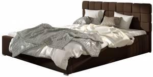 Επενδυμένο κρεβάτι Grady-140 x 200-Χωρίς μηχανισμό ανύψωσης-Kafe