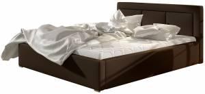 Επενδυμένο κρεβάτι Belluga-Kafe-160 x 200-Χωρίς μηχανισμό ανύψωσης