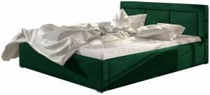 Επενδυμένο κρεβάτι Belluga-Prasino-140 x 200-Χωρίς μηχανισμό ανύψωσης