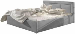 Επενδυμένο κρεβάτι Belluga-Gkri-160 x 200-Χωρίς μηχανισμό ανύψωσης