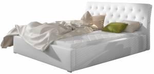 Επενδυμένο κρεβάτι Milan-Leuko-Χωρίς μηχανισμό ανύψωσης-160 x 200