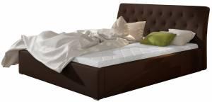 Επενδυμένο κρεβάτι Milan-Kafe-Χωρίς μηχανισμό ανύψωσης-180 x 200