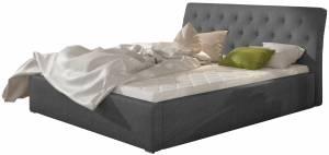 Επενδυμένο κρεβάτι Milan-Gkri-Χωρίς μηχανισμό ανύψωσης-140 x 200