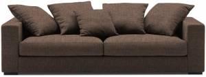 Καναπές Pilo Τριθέσιος-225φ 90β εκ-Σοκολατί