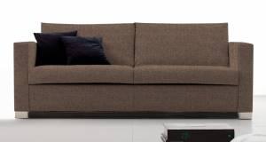 Καναπές Smart Τριθέσιος-185φ 90β εκ-Σοκολατί