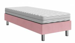 Επενδυμένο κρεβάτι Lux-Baza-Roz-200 x 80 x 30