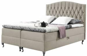 Επενδυμένο κρεβάτι Puerto-Mpez-140 x 200 εκ.