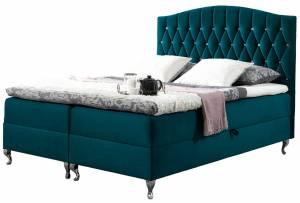 Επενδυμένο κρεβάτι Puerto-Mple Skouro-140 x 200 εκ.