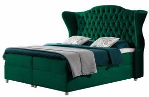 Επενδυμένο κρεβάτι Livia-Prasino-120 x 200 εκ.