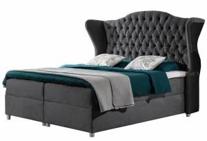 Επενδυμένο κρεβάτι Livia-Gkri-120 x 200 εκ.