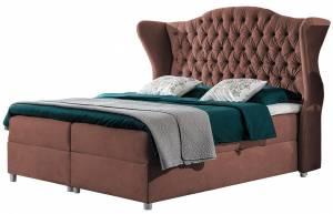 Επενδυμένο κρεβάτι Livia-Sapio milo-160 x 200 εκ.
