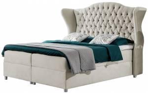 Επενδυμένο κρεβάτι Livia-Ekrou-140 x 200 εκ.