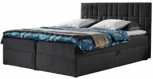 Επενδυμένο κρεβάτι Top 3-Gkri Skouro-140 x 200 εκ.