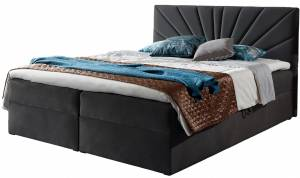 Επενδυμένο κρεβάτι Top 4-Gkri Skouro-140 x 200 εκ.