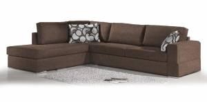 Γωνιακός καναπές Must-Δεξιά-295φ 230β εκ.-Σοκολατί
