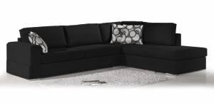 Γωνιακός καναπές Must-Δεξιά-295φ 230β εκ.-Μαύρο