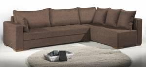 Γωνιακός καναπές Trendy-Δεξιά-285φ 185β εκ.-Σοκολατί