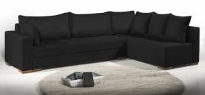 Γωνιακός καναπές Trendy-Δεξιά-265φ 165β εκ.-Μαύρο