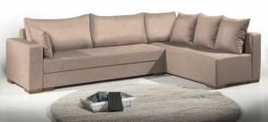 Γωνιακός καναπές Trendy-Δεξιά-265φ 165β εκ.-Μπεζ
