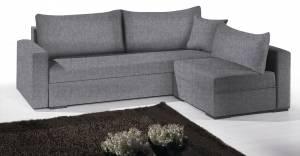 Γωνιακός καναπές Kleio-215φ 160β-Γκρι