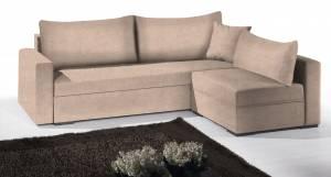 Γωνιακός καναπές Kleio-195φ 140β-Μπεζ
