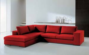 Γωνιακός καναπές Carla-Δεξιά-260φ 200β-Κόκκινο