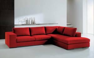 Γωνιακός καναπές Carla-Αριστερή-280φ 220β-Κόκκινο