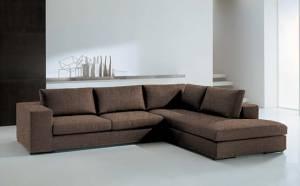 Γωνιακός καναπές Carla-Αριστερή-260φ 200β-Σοκολατί
