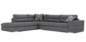 Γωνιακός καναπές Caza-Δεξιά-260φ 200β-Γκρι