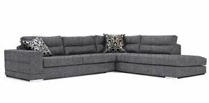 Γωνιακός καναπές Caza-Αριστερή-280φ 220β-Γκρι