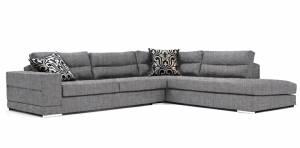 Γωνιακός καναπές Caza-Αριστερή-260φ 200β-Γκρι Anoixto