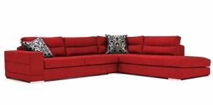 Γωνιακός καναπές Caza-Αριστερή-260φ 200β-Κόκκινο