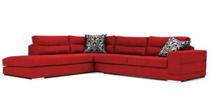 Γωνιακός καναπές Caza-Δεξιά-260φ 200β-Κόκκινο